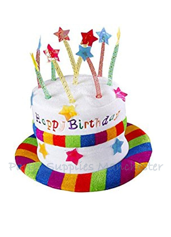 Fun Novelty Cake Happy Birthday Party Hat With Candles On The Top