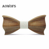 Novelty Three-Dimensional Wood Bow Tie For Men Weeding Classic Wood Bowtie Wood 3D Handmade Wooden Ties Gravata