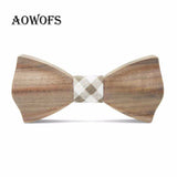 Wood Bow Tie For Men Women Weeding Three-dimensional Classic Wood Bowtie Wood 3D Corbata Wooden Ties Gravata