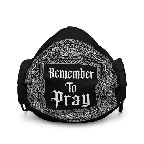 Remember To Pray Face Mask - Black Paisley