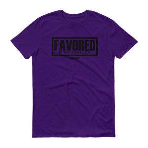 Favored Is My Ethnicity T-Shirt Black Print