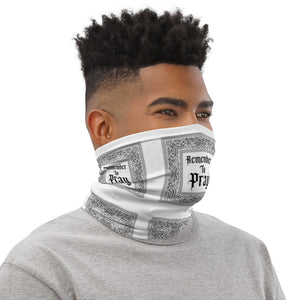 Remember To Pray Neck Gaiter - White Paisley