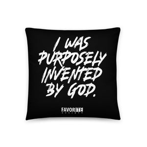 Purposely Invented Pillow - Black