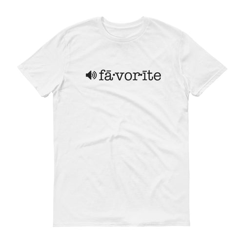 Favorite Pronunciation T-Shirt Black Print