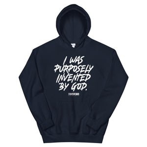 Purposely Invented Hoodie - White Print