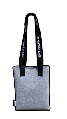 Recycled plastic tote bag