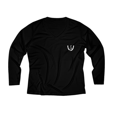 Women's Long Sleeve Performance V-neck Tee - UNIDENTIFLY