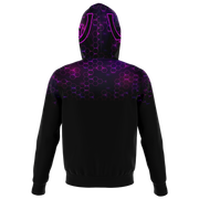 ( Purple Hive ) Zip-Up Hoodie
