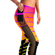 Hyper Purple Mesh Pocket Leggings - UNIDENTIFLY