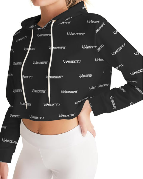 Statement Women's Cropped Hoodie - UNIDENTIFLY