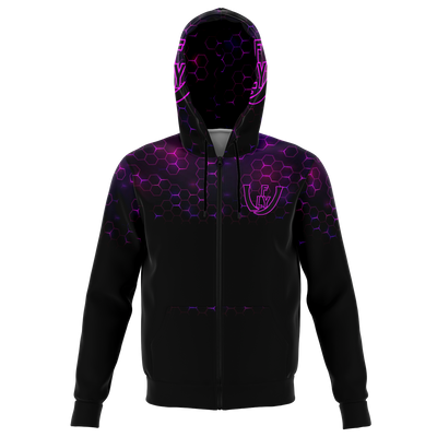 ( Purple Hive ) Zip-Up Hoodie - UNIDENTIFLY