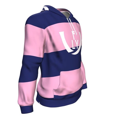 Heart and Mind Performance Hoodie (Pink/Blue) - UNIDENTIFLY