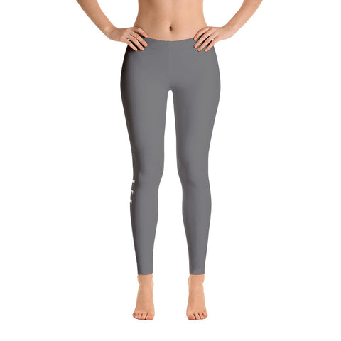 Statement Grey Leggings - UNIDENTIFLY