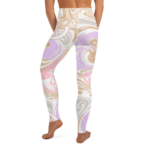 Soft Vision Marble High Leggings - UNIDENTIFLY