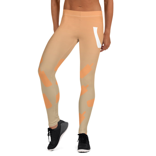 Creamcicle Leggings - UNIDENTIFLY