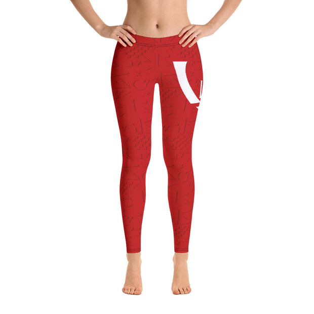 FIBA Red Leggings - UNIDENTIFLY