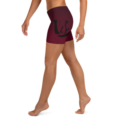 Fade to Black Burgundy Shorts - UNIDENTIFLY