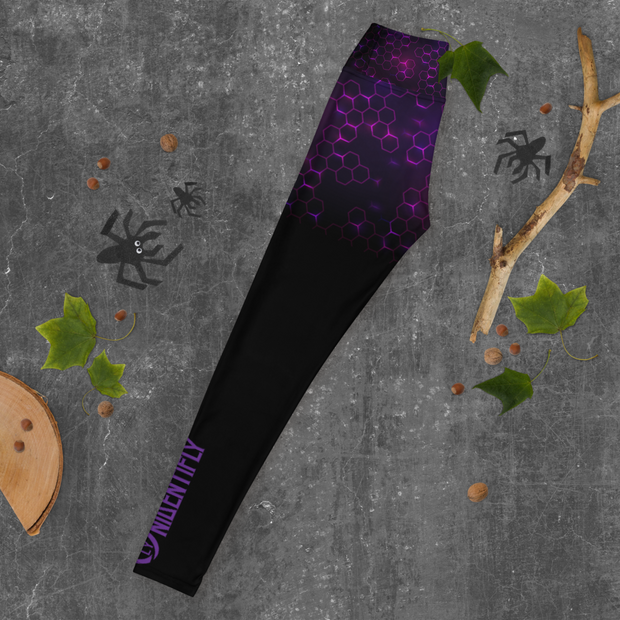 ( Purple Hive ) High Leggings - UNIDENTIFLY