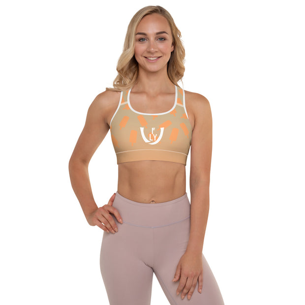Creamcicle Padded Sports Bra - UNIDENTIFLY