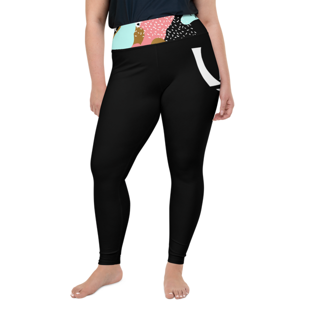 ( Bold ) Plus Size High Leggings