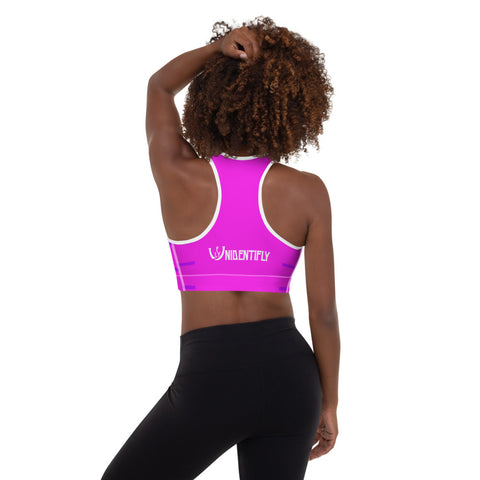 Hyper Purple Max Padded Sports Bra - UNIDENTIFLY