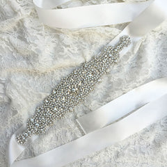 Crystal Sash Belt | Rhinestone Waistband Satin Bridal Belts