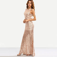The Marilyn- Maxi Sequin Party Dress