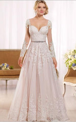 The Adalene- Long Sleeves Lace Wedding Dresses
