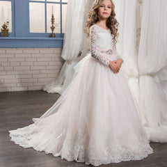 Long Sleeves First Communion Dresses