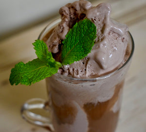 Chocolate Green Chai Float