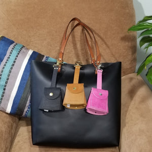 Keysie Breeze collection Black Chestnut Pink displayed on a bag never lose your keys key finder key wallet new women women's accessory hanging key wallet
