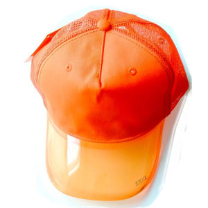 Casquette filet orange Fluorescent Visor