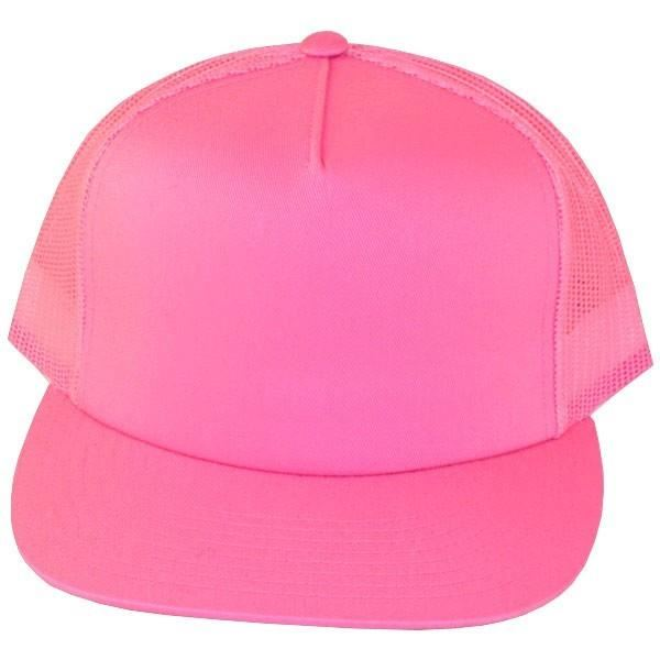 Casquette filet Yupoong rose
