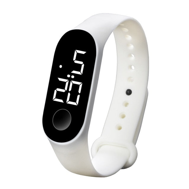 Montre digitale LED Silicone Mixte