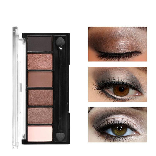 Fard a paupiere 6 Couleurs Eye Shadow Shimmer - nooteo