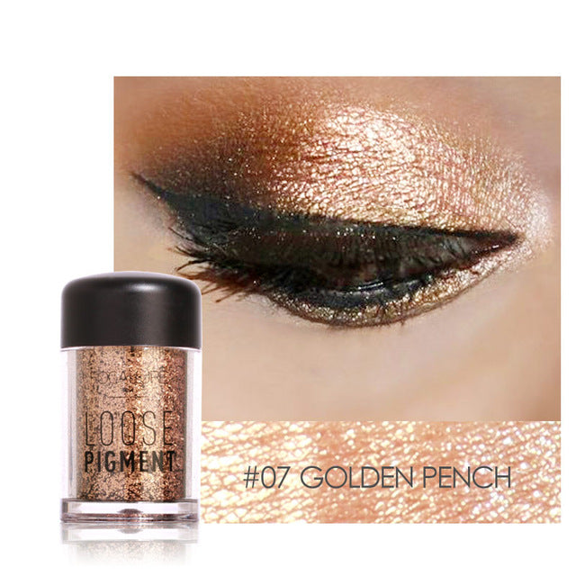 Ombre à paupière Golden peach Glitter Cosmetic maquillage