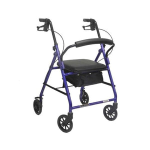 Aluminum Rollator W/loop Brake Blue (Pmi) 4-Wheel - Rollators
