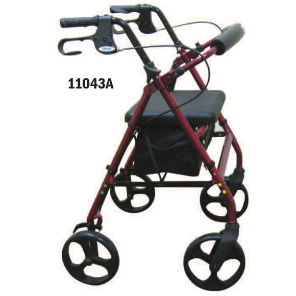 Aluminum Rollator W/loop Brake Burgundy (Pmi) 4-Wheel - Rollators