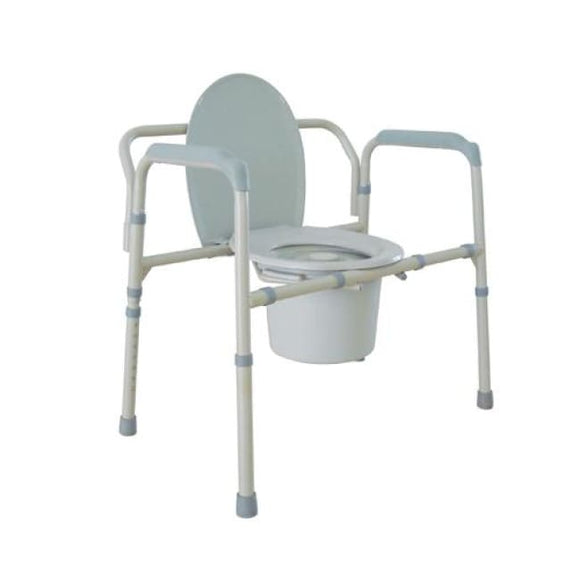 Bariatric Folding Commode 650 Lb. Capacity - Bedside Commodes