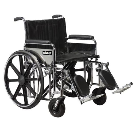 Bariatric Wheelchair 20 Wide W/det Full Arms & Elev Legrest - Wheelchair - Accessories/parts