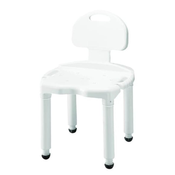 Bath Bench Composite W/ Back Knocked-Down -Carex - Bath& Shower Chair/accessories