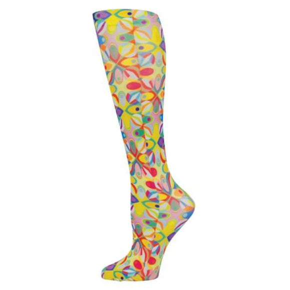 Blue Jay Fashion Socks (Pr) Abstract Colors 15-20Mmhg - Ladies Socks