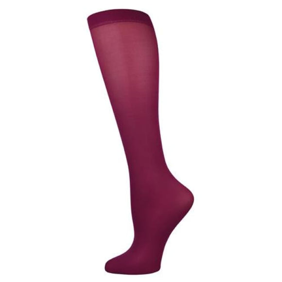 Blue Jay Fashion Socks (Pr) Perfectly Plum 15-20Mmhg - Ladies Socks