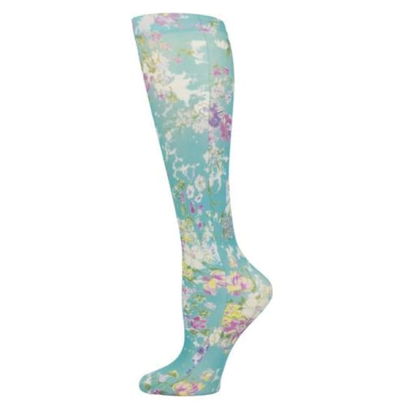 Blue Jay Fashion Socks (Pr) Turquoise Klara 8-15Mmhg - Ladies Socks