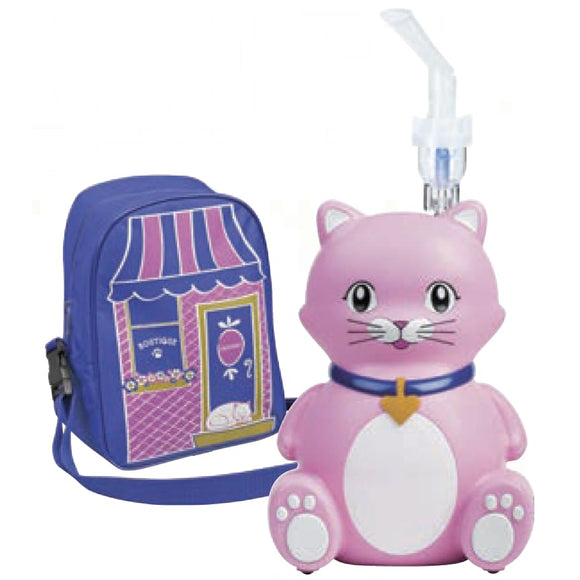 Claw-Dia Kitty Compressor Nebulizer Kit - Pink/purple - Compressor Nebulizer Kit