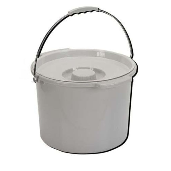 Commode Pail With Lid 12 Quart Gray - Commode Pails