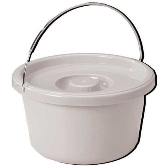 Commode Pail With Lid 7.5 Quart Gray - Commode Pails