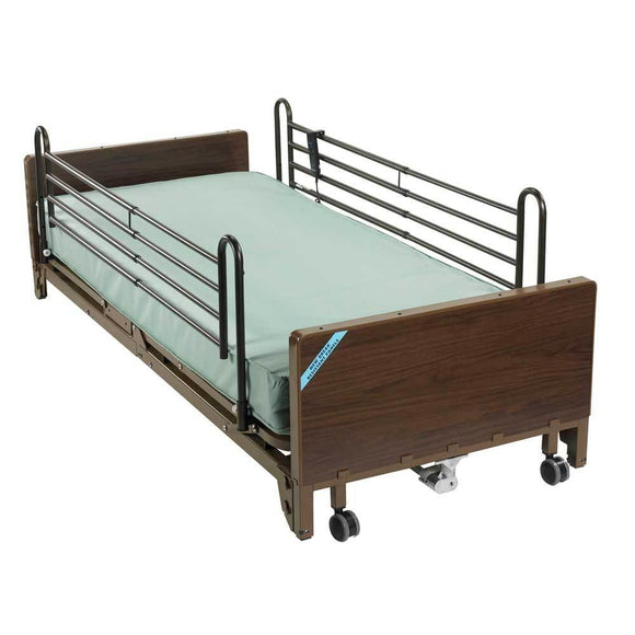 Drive Medical Delta Ultra Light Full Electric Low Bed With Full Rails And Foam Mattress - Gym Equipment