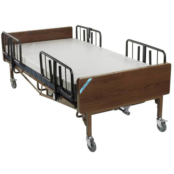 Drive Medical Full Electric Heavy Duty Bariatric Hospital Bed With Mattress And 1 Set Of T Rails - Bariatric Bed
