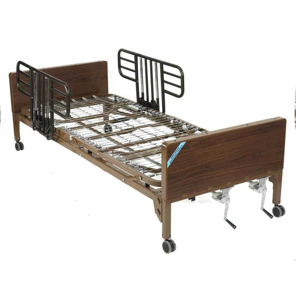 Drive Medical Multi Height Manual Hospital Bed With Half Rails - Drive Medical